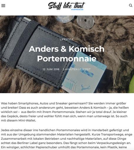 A&K MINI Portemonnaie in schwarz/black - Blogbeitrag von Stuffblog