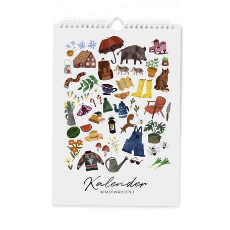 Blumen Kalender immerwährend