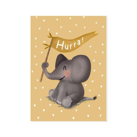 Postkarte mit Blumenstrauß