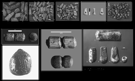 Perles en ivoire de mammouth, Abri Castanet, Sergeac, Site de Castel-Merle