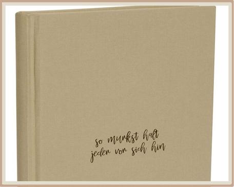 """Notizbuch graviert """"so murkst halt jeder vor sich hin"""""""