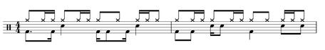 Ostinato Schlagzeug Beispiel