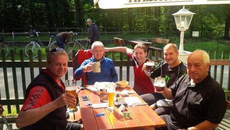 v.l. Hans Dengler, Gerhard Born, Rolf Miehling, Christian John, Heinz Zetterer