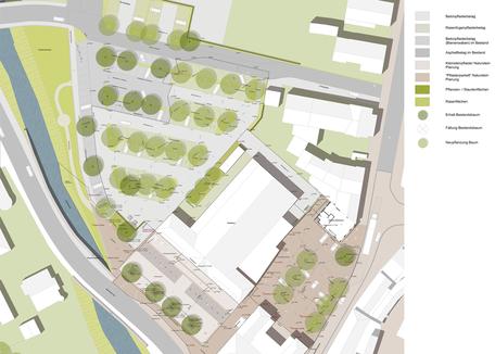 Umfeld Stadthalle Haslach i.K. - Leistungsphase 8, Planung: faktorgruen Landschaftsarchitekten