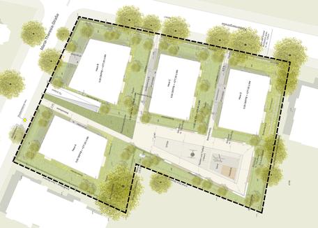 Wohnungsüberbauung, Freiburg - Leistungsphase 8, Planung: faktorgruen Landschaftsarchitekten