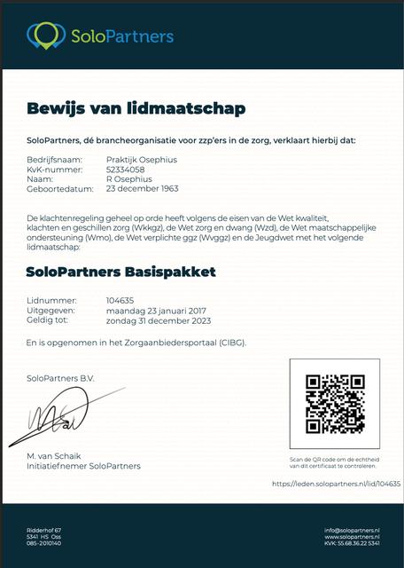 www.ronaldosephius.nl solopartners lidnummer Bewust groeien vanuit innerlijke kracht