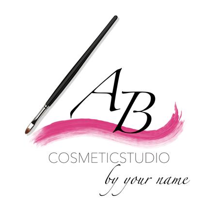 Logo für Kosmetikstudio mit Pinsel