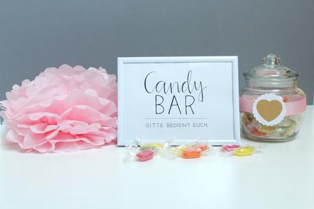 Candy Bar Schild selber machen