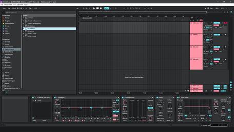 Ableton Live 11 theme RetroRose Brightness Level 4