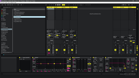 Ableton Live 11 theme YellowMellow Session View
