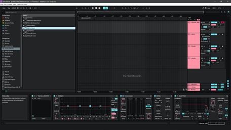 Ableton Live 11 theme RetroRose Brightness Level 1