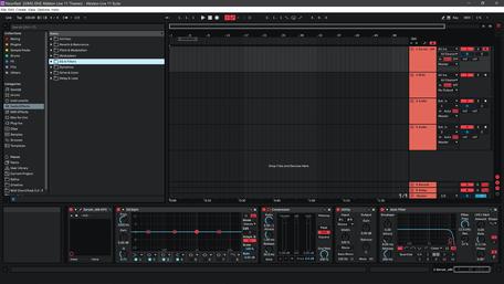Ableton Live 11 theme NeonRed Arrangement View