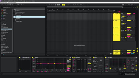 Ableton Live 11 theme YellowMellow Brightness Level 2