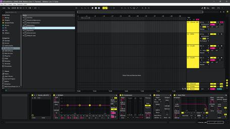 Ableton Live 11 theme YellowMellow Arrangement View