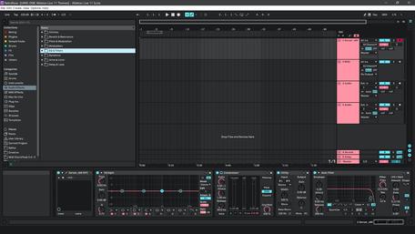 Ableton Live 11 theme RetroRose Brightness Level 3
