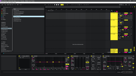 Ableton Live 11 theme YellowMellow Brightness Level 1