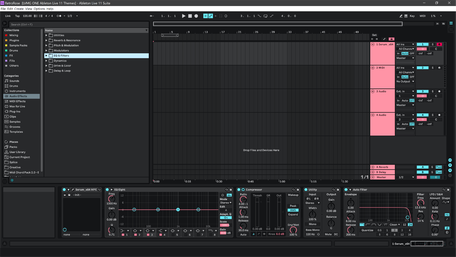 Ableton Live 11 theme RetroRose Brightness Level 2