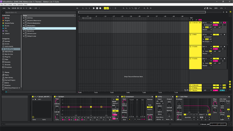 Ableton Live 11 theme YellowMellow Brightness Level 4