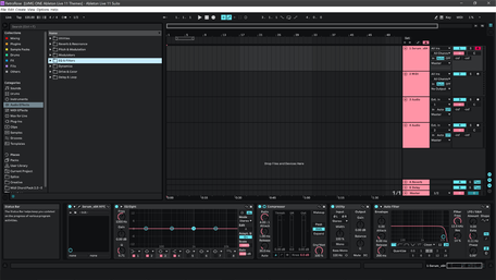 Ableton Live 11 theme RetroRose Arrangement View