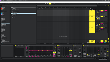 Ableton Live 11 theme YellowMellow Brightness Level 3