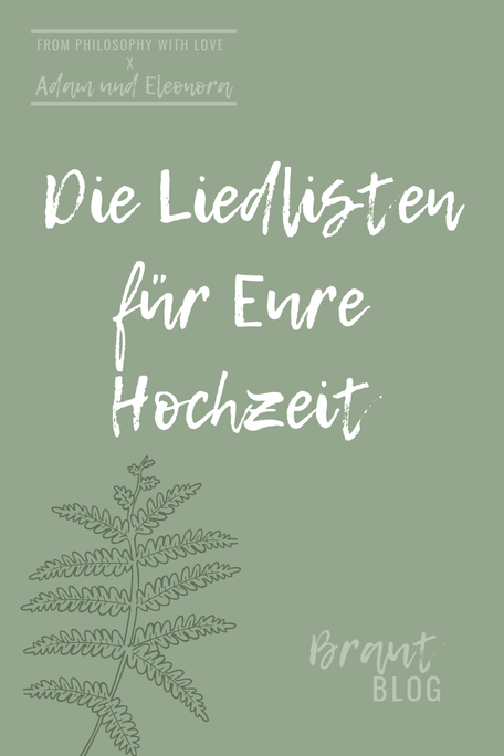 Liedlisten für Eure Hochzeit gefunden auf www.philosophylove.de