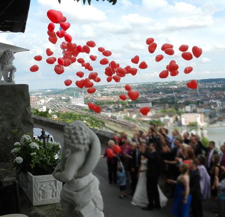 Ballon Weitflug Hochzeit Karten Herzen Heliumballons Helium