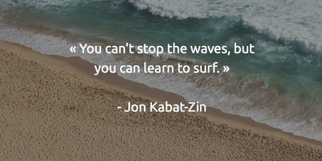 You can't stop the waves but you can lear to surf Jon Kabat ZIn