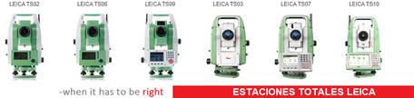 Estaciones totales Leica