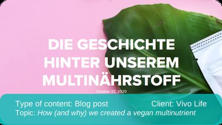 English to German translation of blog post: vegan multinutrient