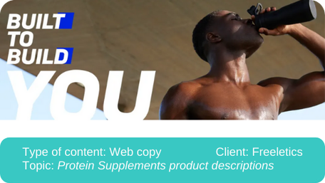 Translation of protein supplements product descriptions for web shop