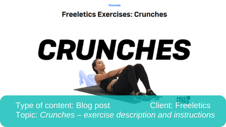 Translation of blog post: Crunches description and instructions