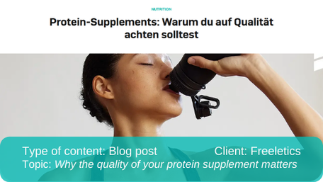 Translation of blog post: Why quality of supplements matters