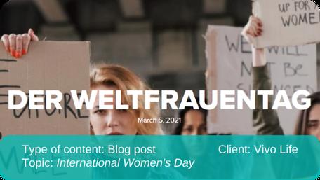 English to German translation of blog post: International Women's Day