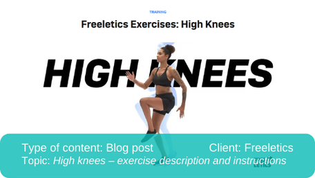 Translation of blog post: High knees description and instructions