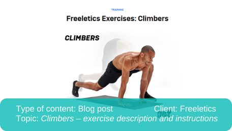 Translation of blog post: Climbers description and instructions