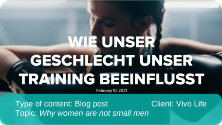 English to German translation of blog post: Why women are not small men