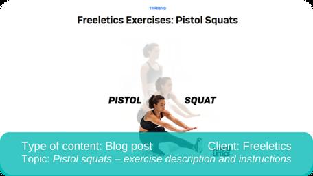Translation of blog post: Pistol squats description and instructions