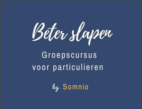 Beter Slapen groepscursus - slaapworkshop voor particulieren