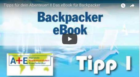 """Youtube Anzeige Video """"eBook für Backpacker"""""""