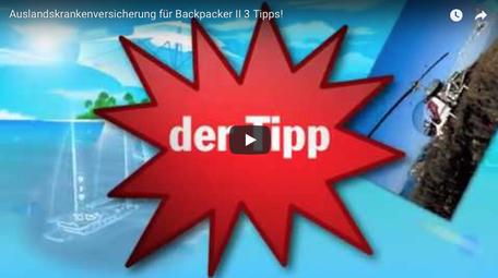 """Youtube Anzeige Video """"Auslandskrankenversicherung für Backpacker"""""""