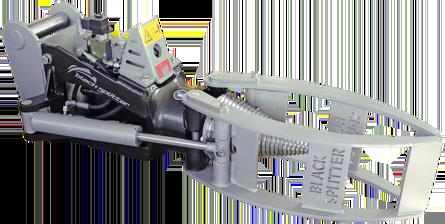 Kegelspalter Black Splitter SG1 mit Greifer / Holzspalter / Holzgreifer / Baggerzubehör / Bagger