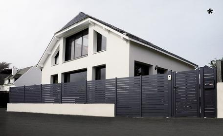 portail clôture portillon bois aluminium pvc sur-mesure corrèze