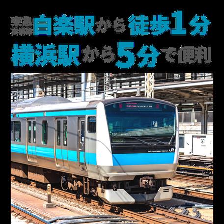 横浜駅から5分でスタジオ到着!東急沿線の駅近の好立地!