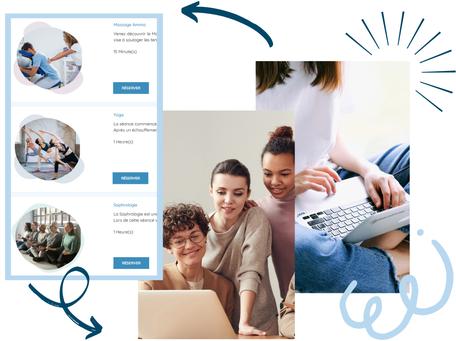 Plateforme de réservation d'activités bien-être en entreprise La Pause Santé