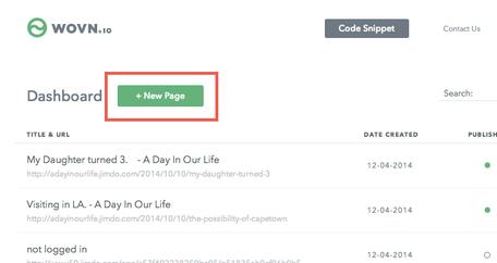 「+NewPage」をクリック
