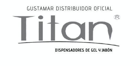 DISPENSADOR DE GEL ANTIBACTERIAL Y JABÓN LÍQUIDO DE SENSOR NEGRO TITÁN 51055LB