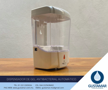 DISPENSADOR DE GEL AUTOMÁTICO