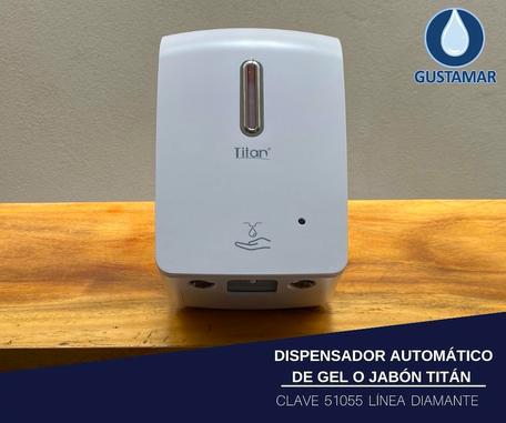DISPENSADOR AUTOMÁTICO DE GEL ANTIBACTERIL 1 LITRO TITÁN