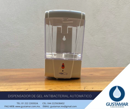 DISPENSADORES DE GEL ANTIBACTERIAL AUTOMÁTICOS