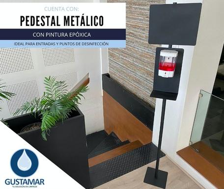 PEDESTAL METÁLICO PARA DISPENSADOR AUTOMÁTICO